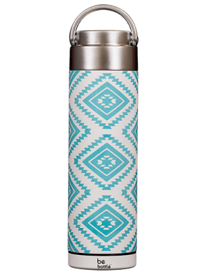 Blue Aztec print bottle
