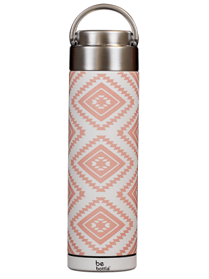 Pink Aztec print bottle