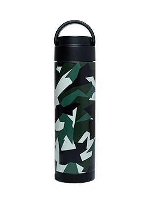 camo design stainless steel reusable water bottle