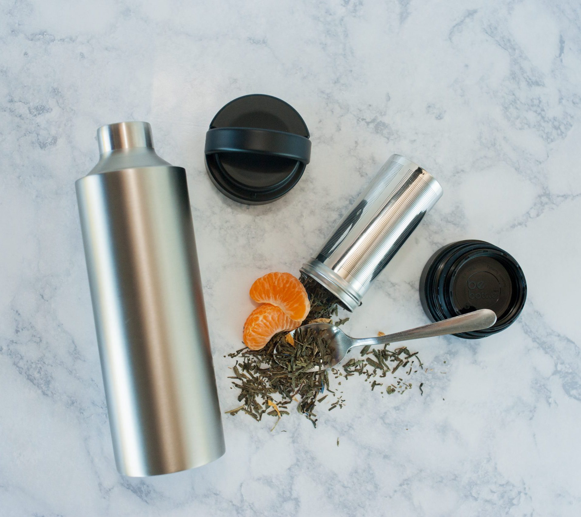 image of stainless steel infuser water bottle